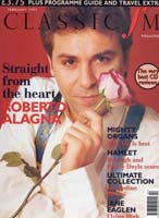 Image: Alagna on cover of Classic FM Magazine, February 1997
