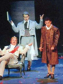 Image: Corbelli, Regazzo and Fl�rez, Cenerentola Paris 2002. Photo: Op�ra International February 2003