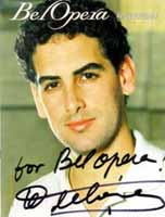 Image: Juan Diego Florez on the Cover of 'Bel Opera', Summer 2004