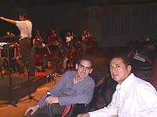 Image: Florez with his first music teacher in Peru, Andrés Santa María,