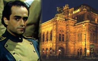 Image: Carreras in Carmen and exterior of the Vienna Staatsoper